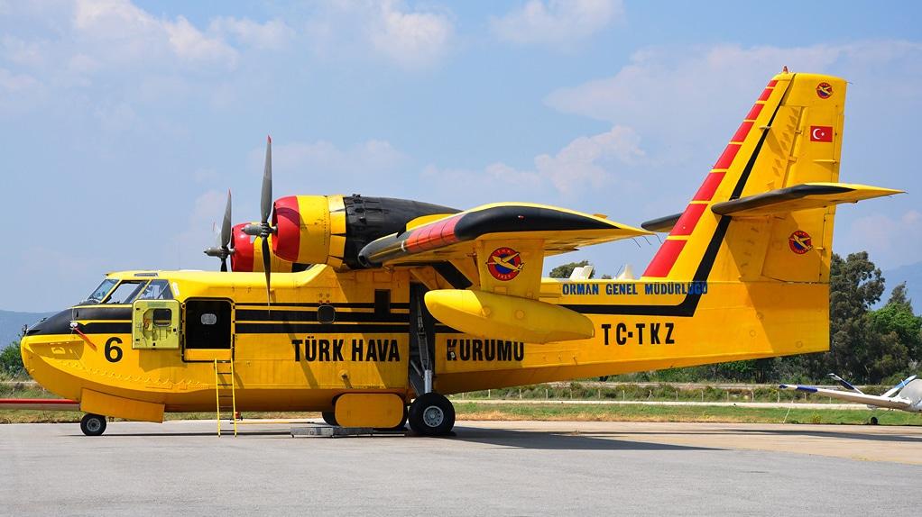 yangın söndürme uçağı cl215