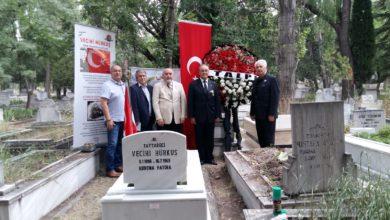 Photo of Vecihi Hürkuş mezarı başında anıldı