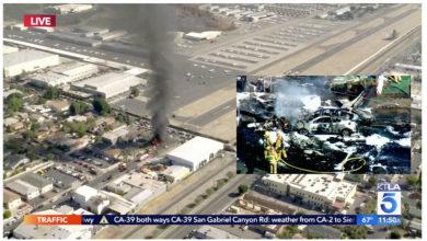 Photo of ABD'de aynı günde iki uçak elektrik hatlarına çarparak düştü, 3 ölü