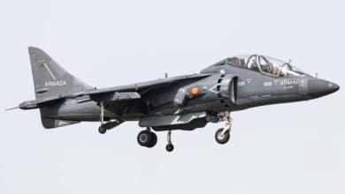 Photo of İspanyolların yeni Harrier uçağı geldi