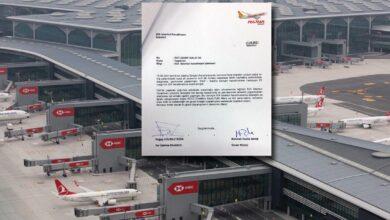 Photo of Pegasus'tan İGA'ya teşekkür mektubu