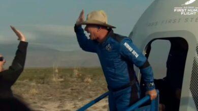 Photo of Jeff Bezos uzayda